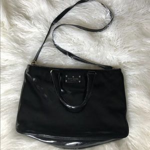 LIKE NEW Kate Spade Patent Leather Handbag Black